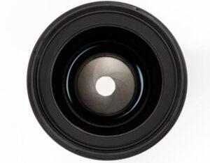Een afbeelding van een lens en de diafragmalamellen