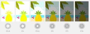 Een illustratie van diafragma en hoe het de belichting beïnvloedt