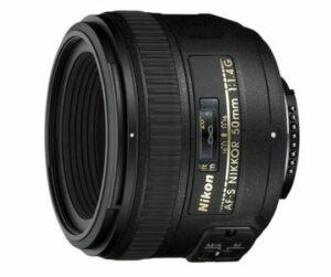 Nikon 50mm f1.4G AF-S lens - deze lens heeft een maximaal diafragma van f1.4